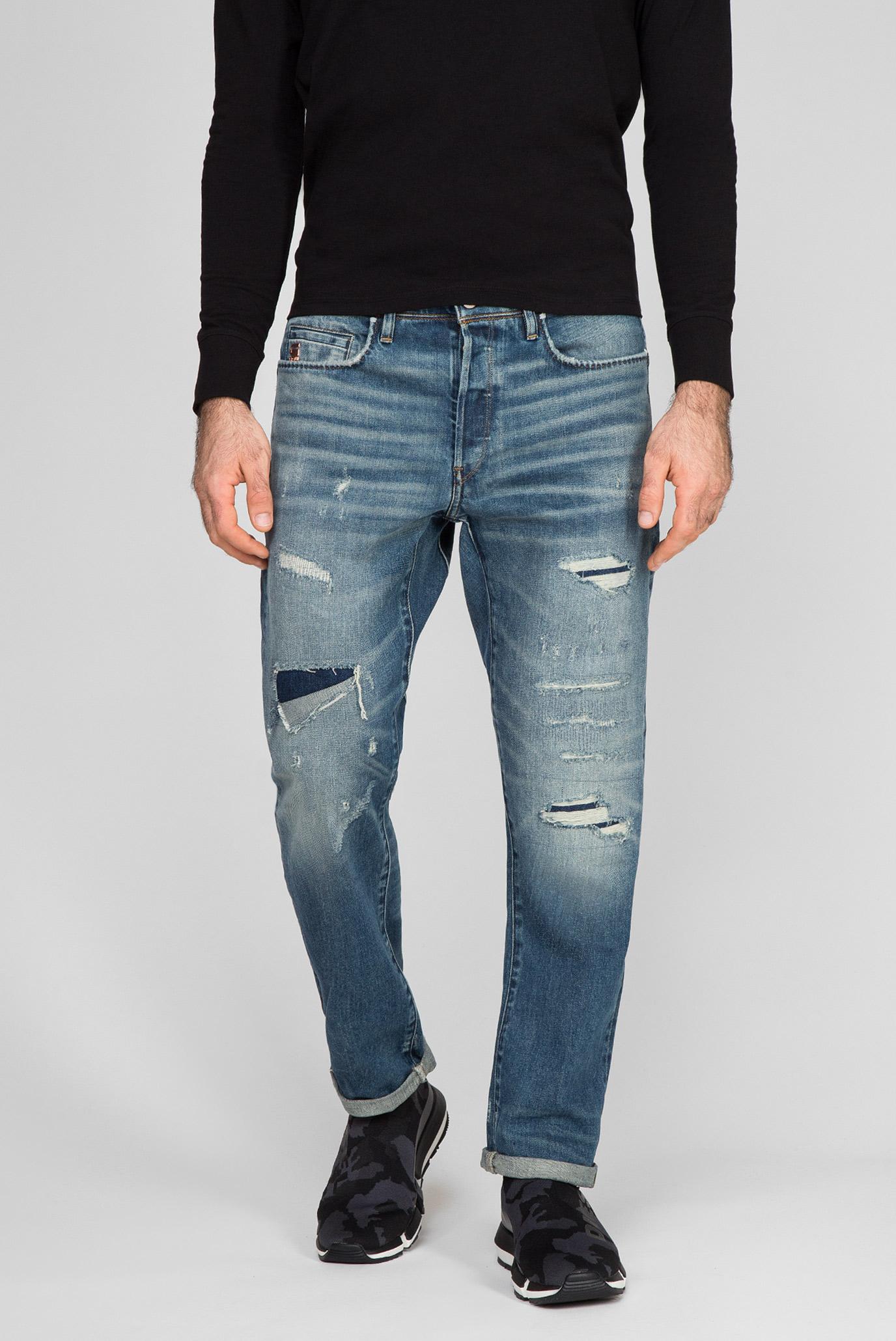 Мужские синие джинсы Moddan Type c relaxed tapered 1