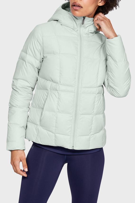 Женская серая куртка UA Armour Down Hooded