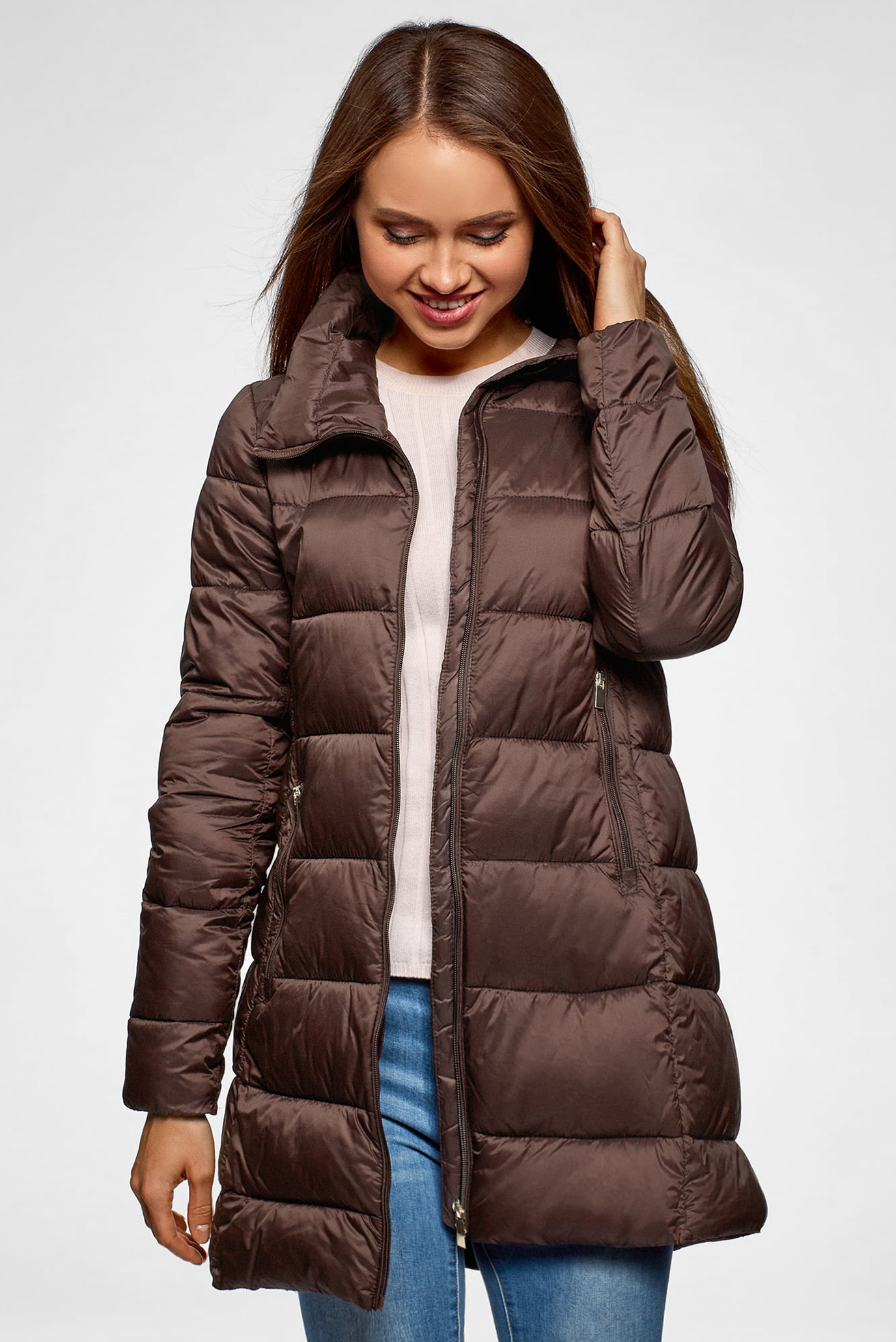 a2ca84ebbd1 Купить Женская коричневая куртка Oodji Oodji 10203055 45638 3900N – Киев