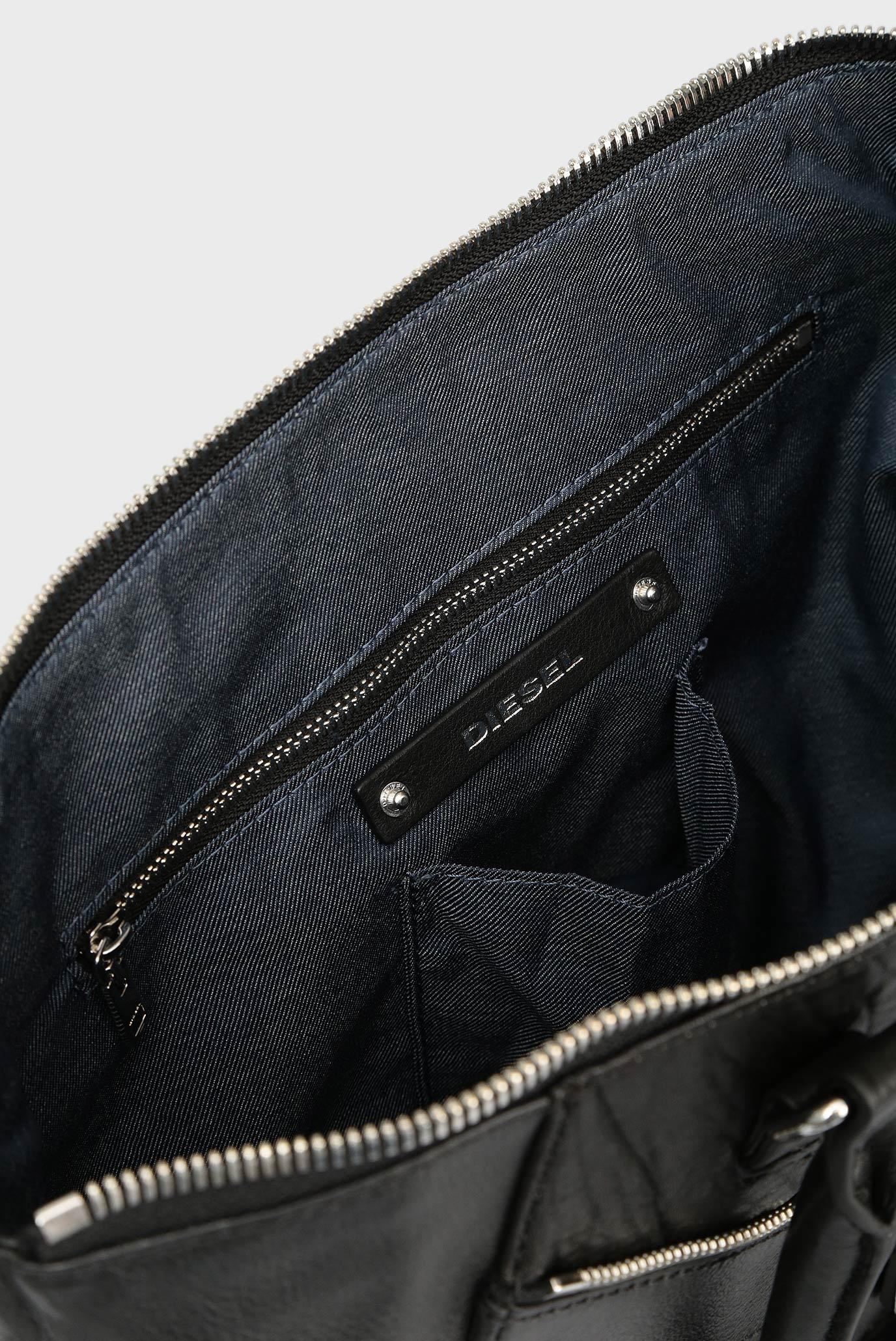 cf2de582d5de Купить Женская черная кожаная сумка на плечо Diesel Diesel X04842 P0804 –  Киев, Украина. Цены в интернет ...