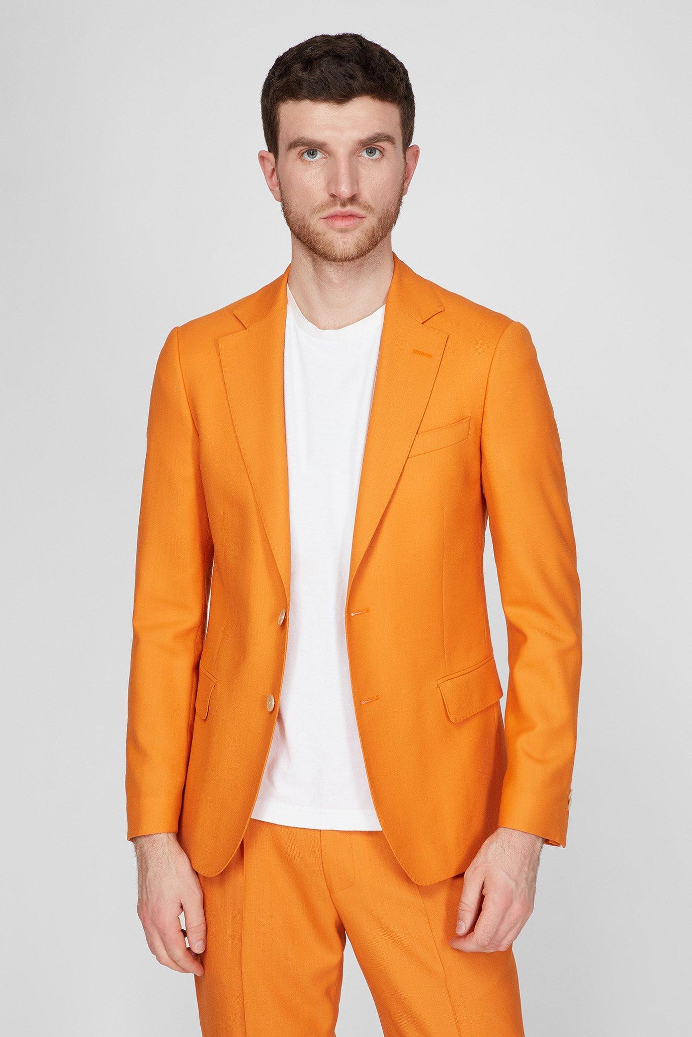 Мужской оранжевый шерстяной пиджак SUMMER PARTY 1