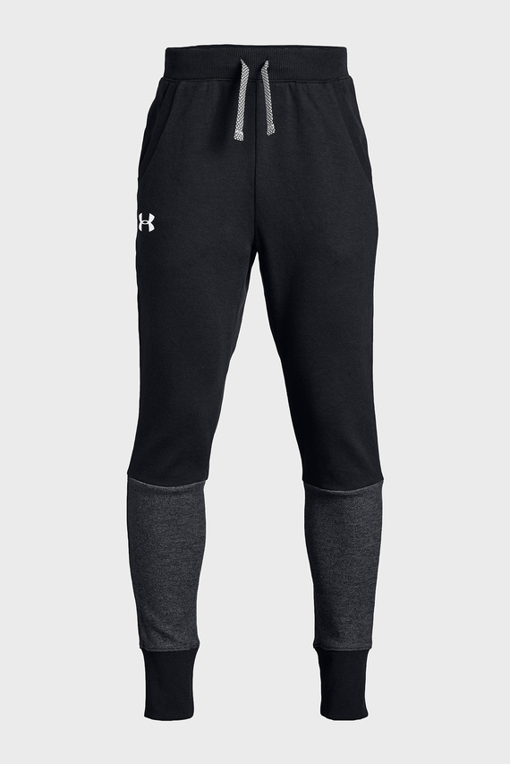 Детские черные спортивные брюки DOUBLE KNIT TAPERED PANT