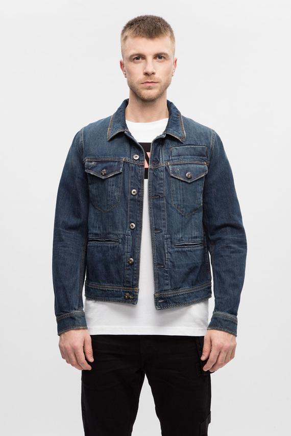 Мужская джинсовая синяя куртка