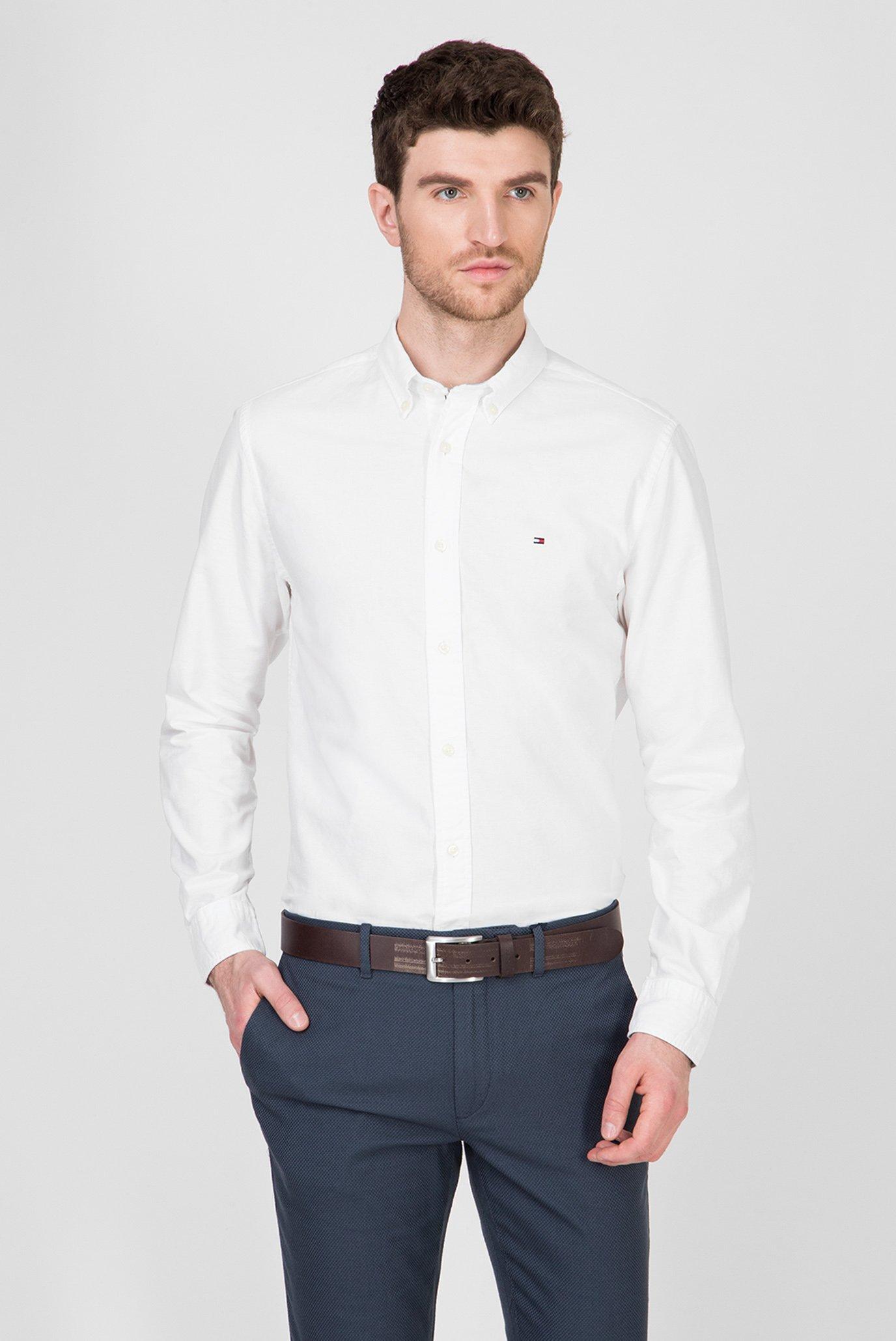 Мужская белая рубашка ORGANIC OXFORD Tommy Hilfiger