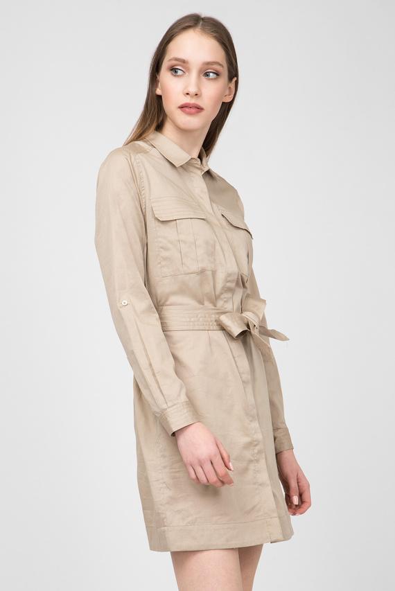 Женское бежевое платье-рубашка MAIKA