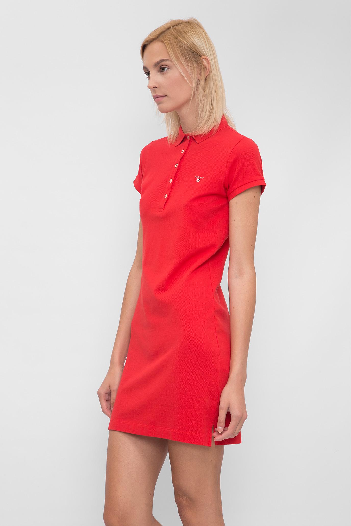 16571d14d59f7 Купить Женское красное платье-поло Gant Gant 402300 – Киев, Украина. Цены в  интернет магазине MD Fashion