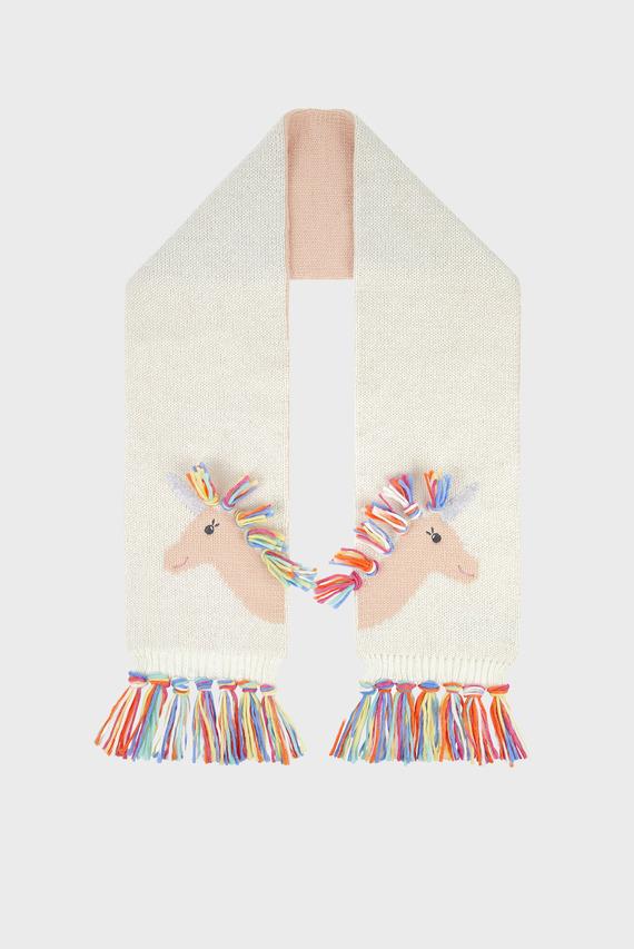Детский розовый шарф UNICORN RAINBOW MANE