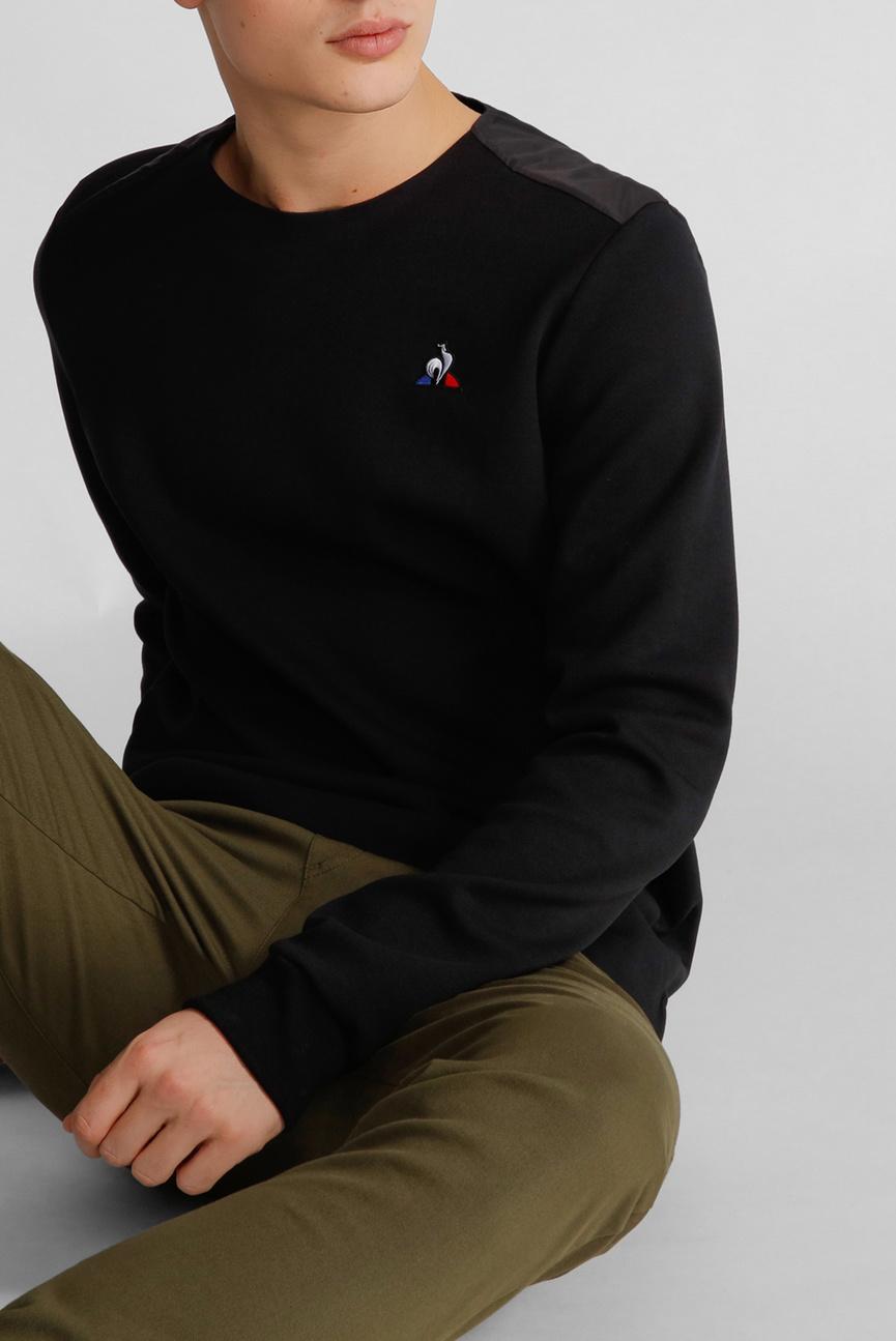 Мужской черный свитшот ESS CREW SWEAT N2