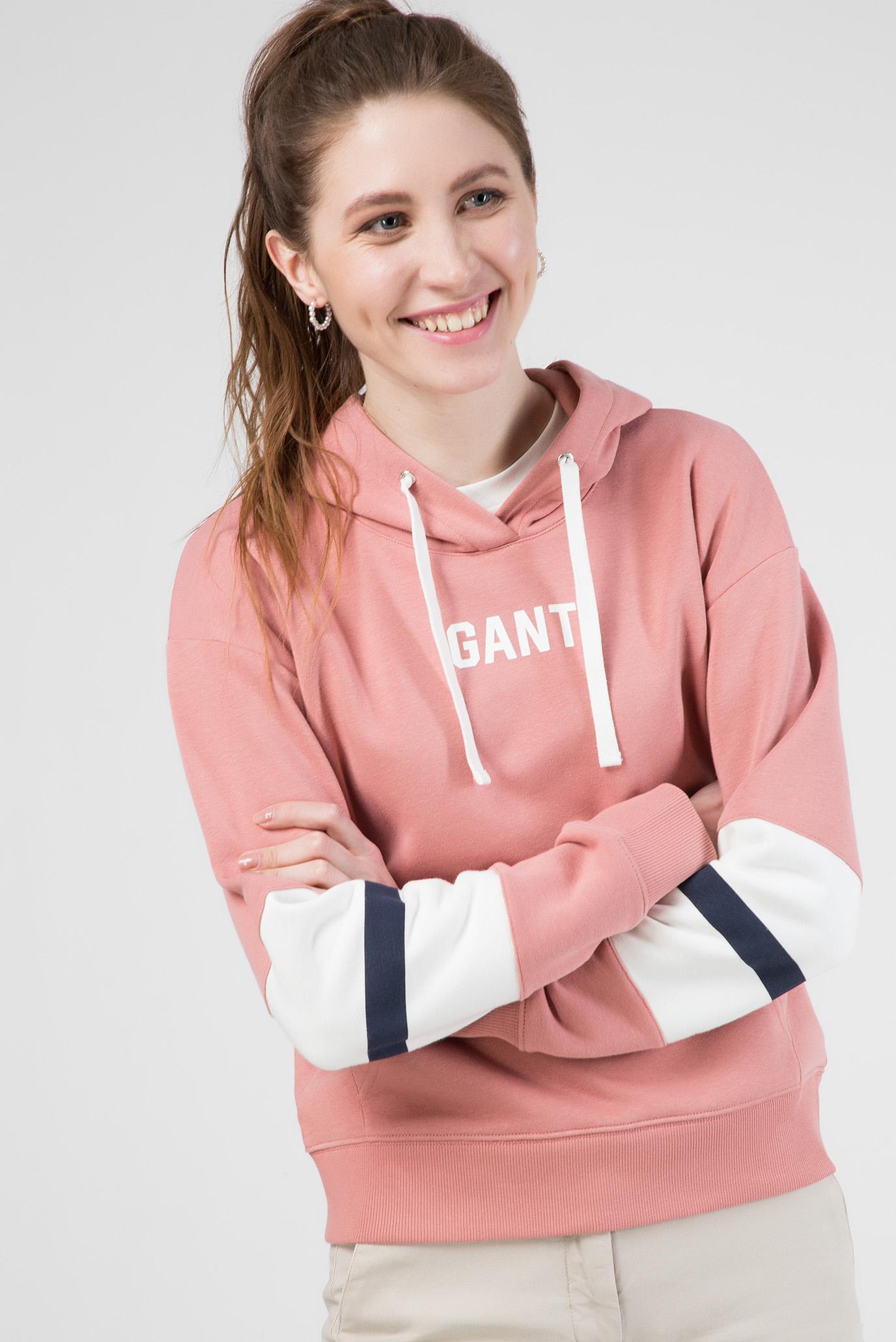 Женское розовое худи Gant