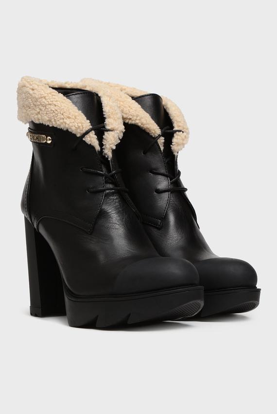 Женские черные кожаные ботильоны SCA.NOD