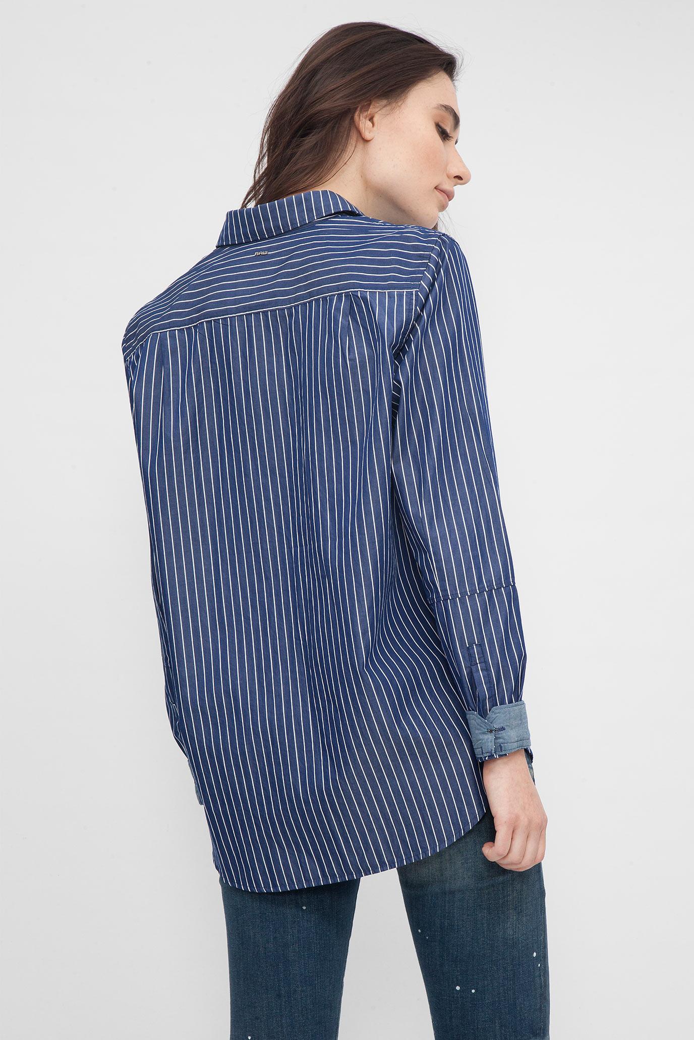 Купить Женская синяя рубашка в полоску G-Star RAW G-Star RAW D04691,8750 – Киев, Украина. Цены в интернет магазине MD Fashion