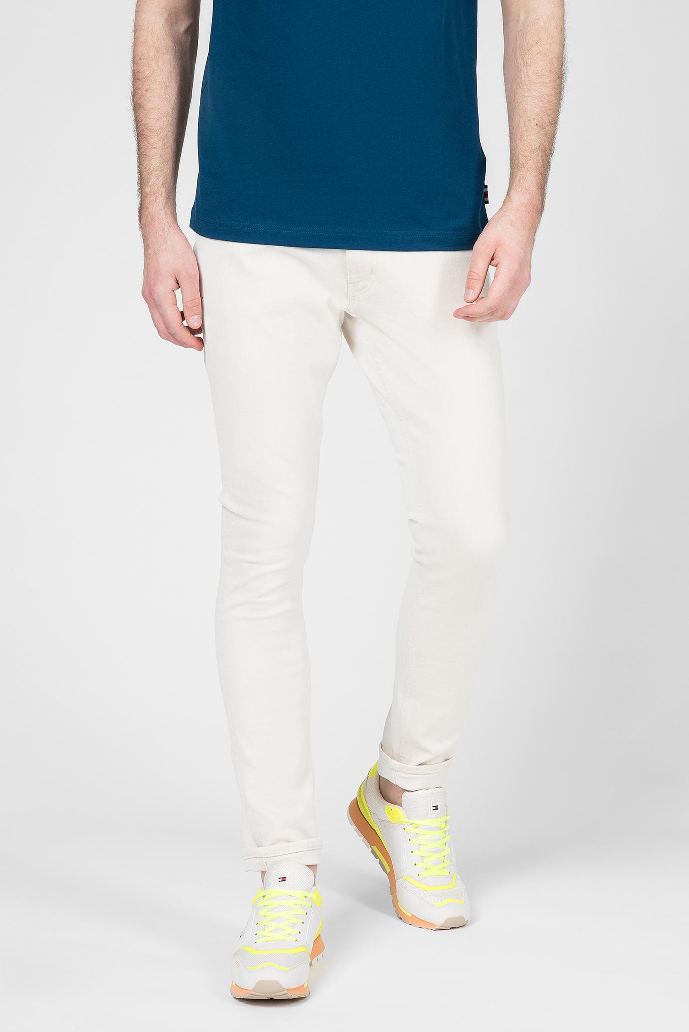 Мужские бежевые джинсы Lewis Hamilton SLIM BLEACH WASH 1