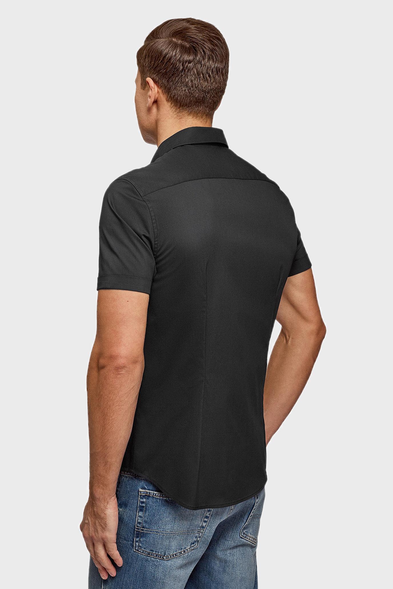 Мужская черная рубашка Oodji
