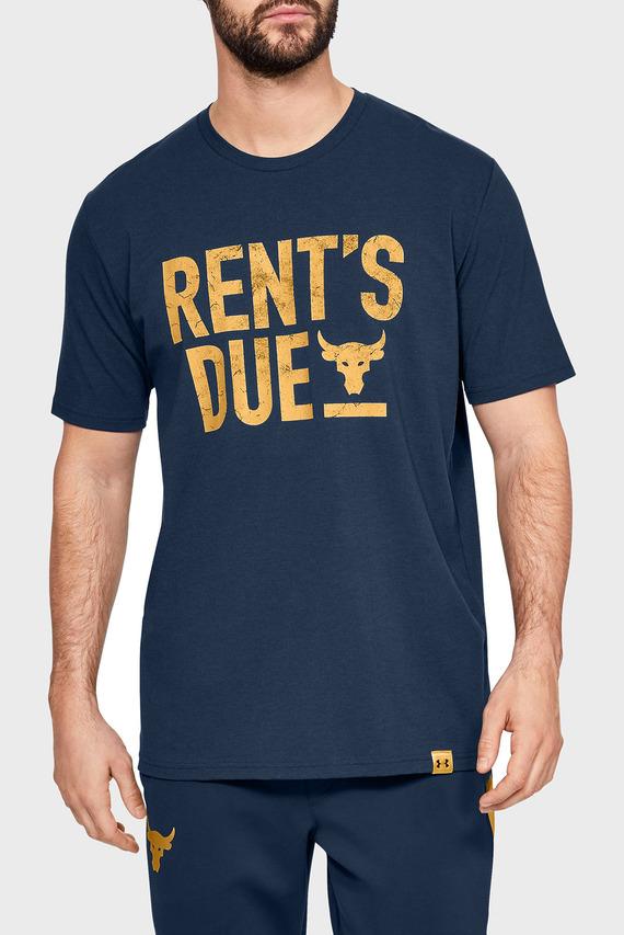 Мужская синяя футболка PROJECT ROCK RENT'S DUE