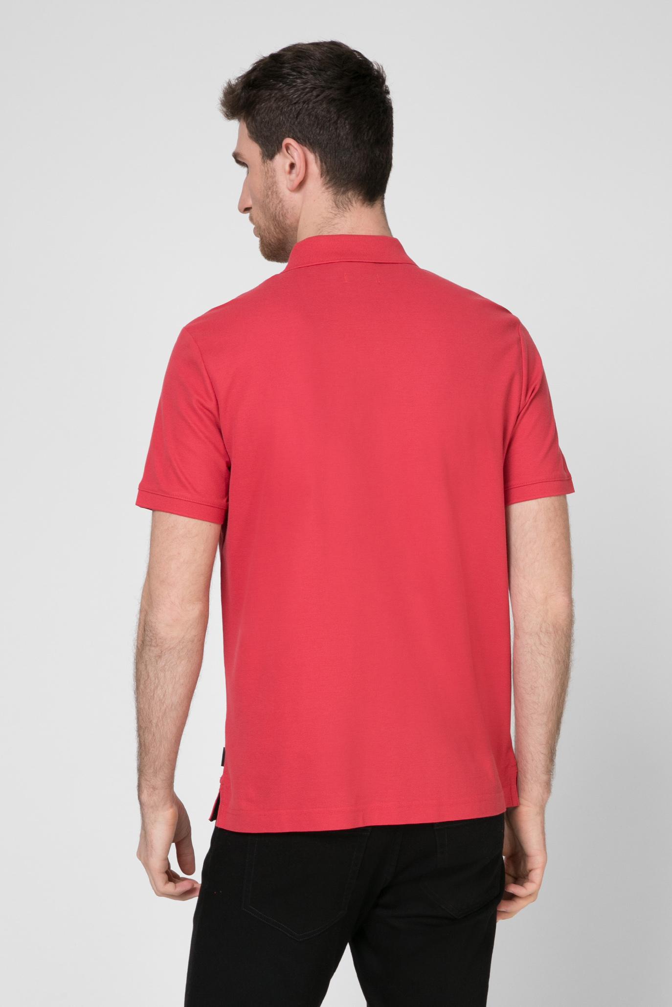 Мужское красное поло REFINED PIQUE Calvin Klein