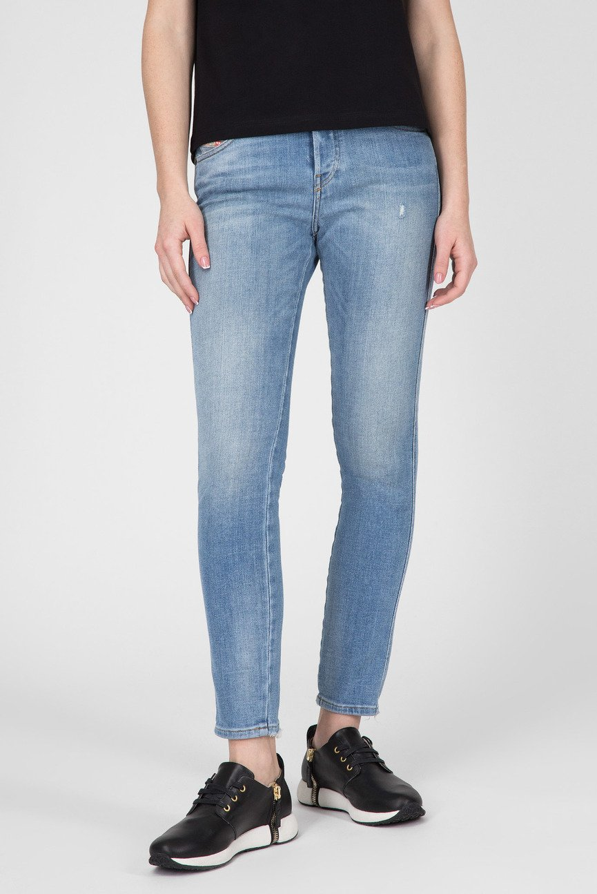 Женские голубые джинсы BABHILA