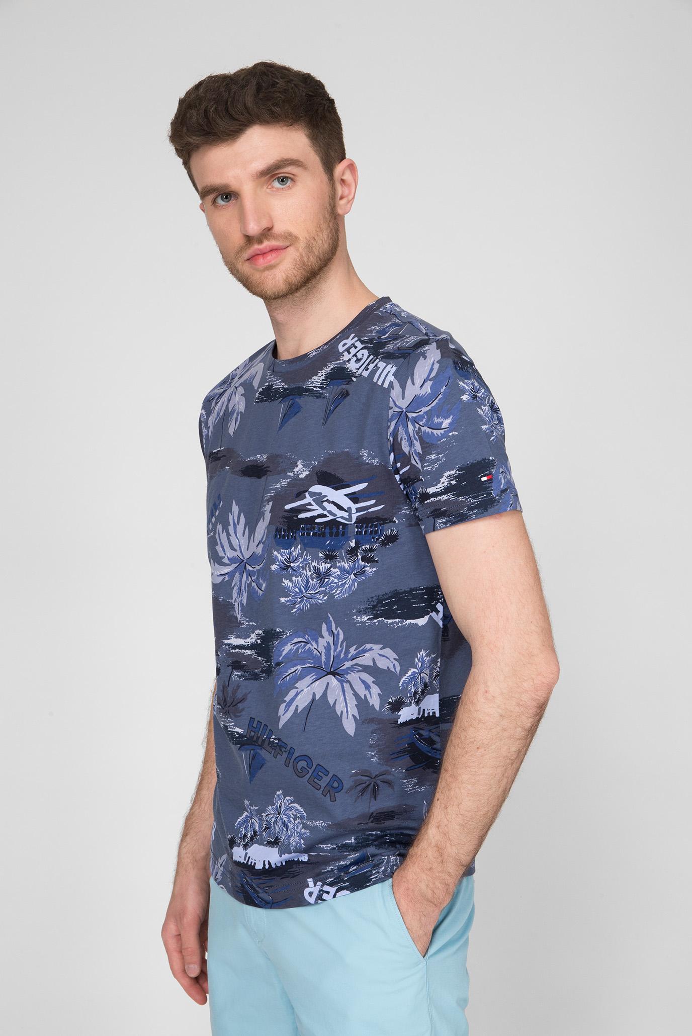 Мужская темно-синяя футболка SUMMER ALLOVER PRINT Tommy Hilfiger