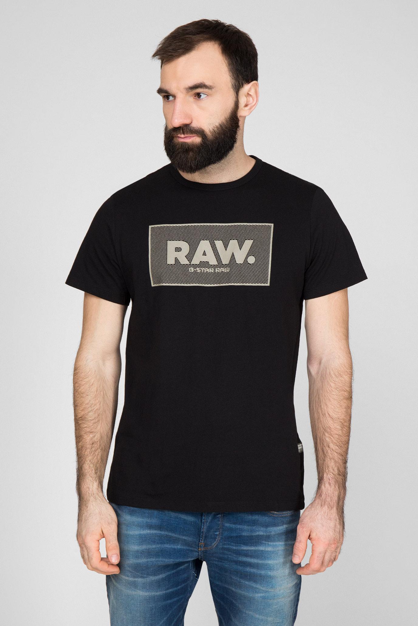 Мужская черная футболка Boxed G-Star RAW