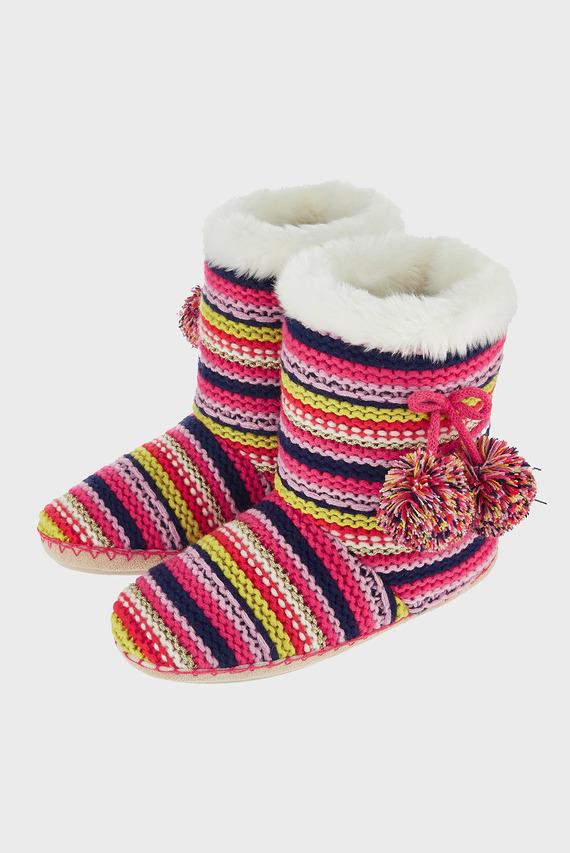 Женские домашние тапочки Knitted Multistripe