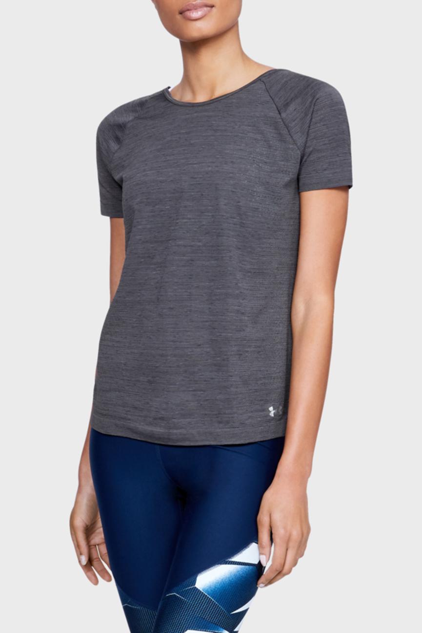 Женская черная футболка TB Seamless Spacedye SS