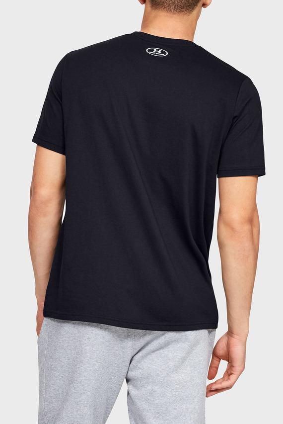 Мужская черная футболка UA INVERSE BOX LOGO