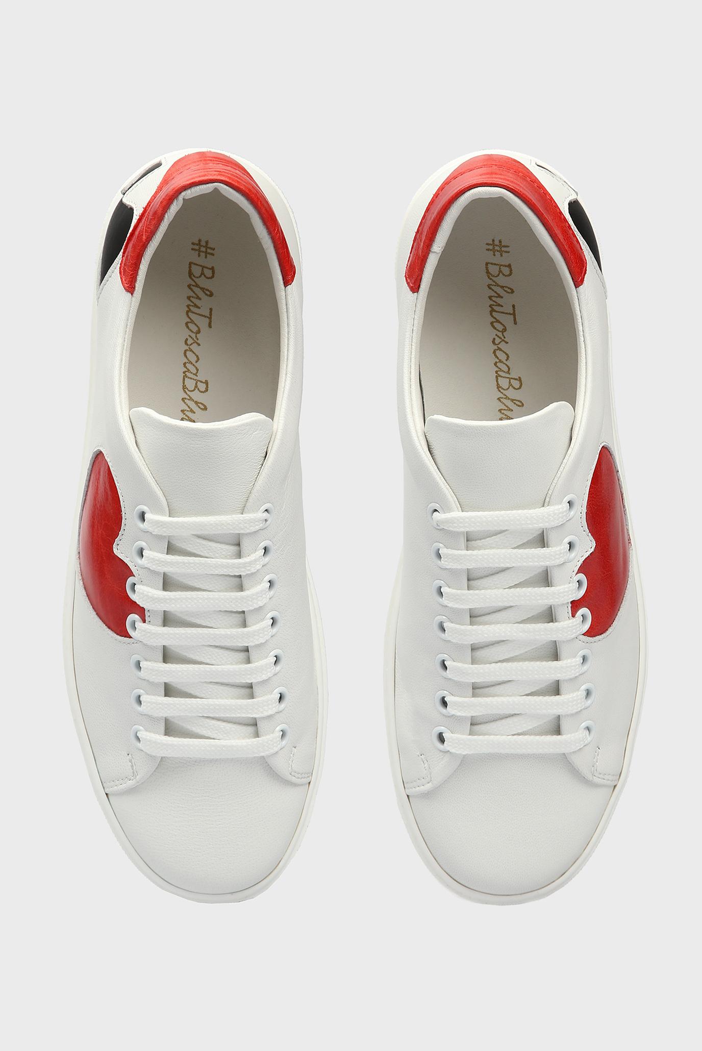 Купить Женские белые кожаные сникеры POKER Tosca Blu  Tosca Blu  TS1980S80 – Киев, Украина. Цены в интернет магазине MD Fashion