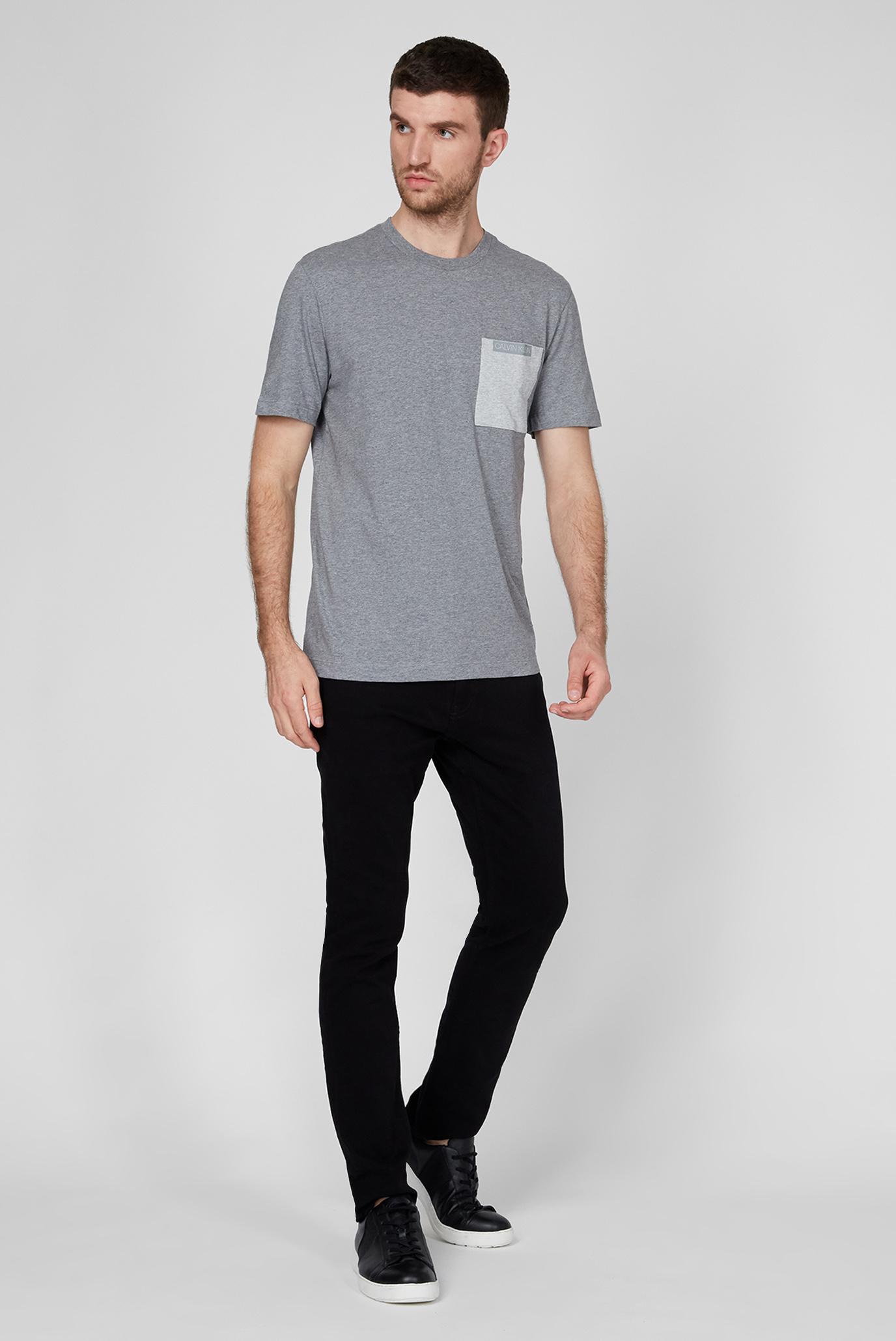 Чоловіча сіра футболка CONTRAST POCKET Calvin Klein
