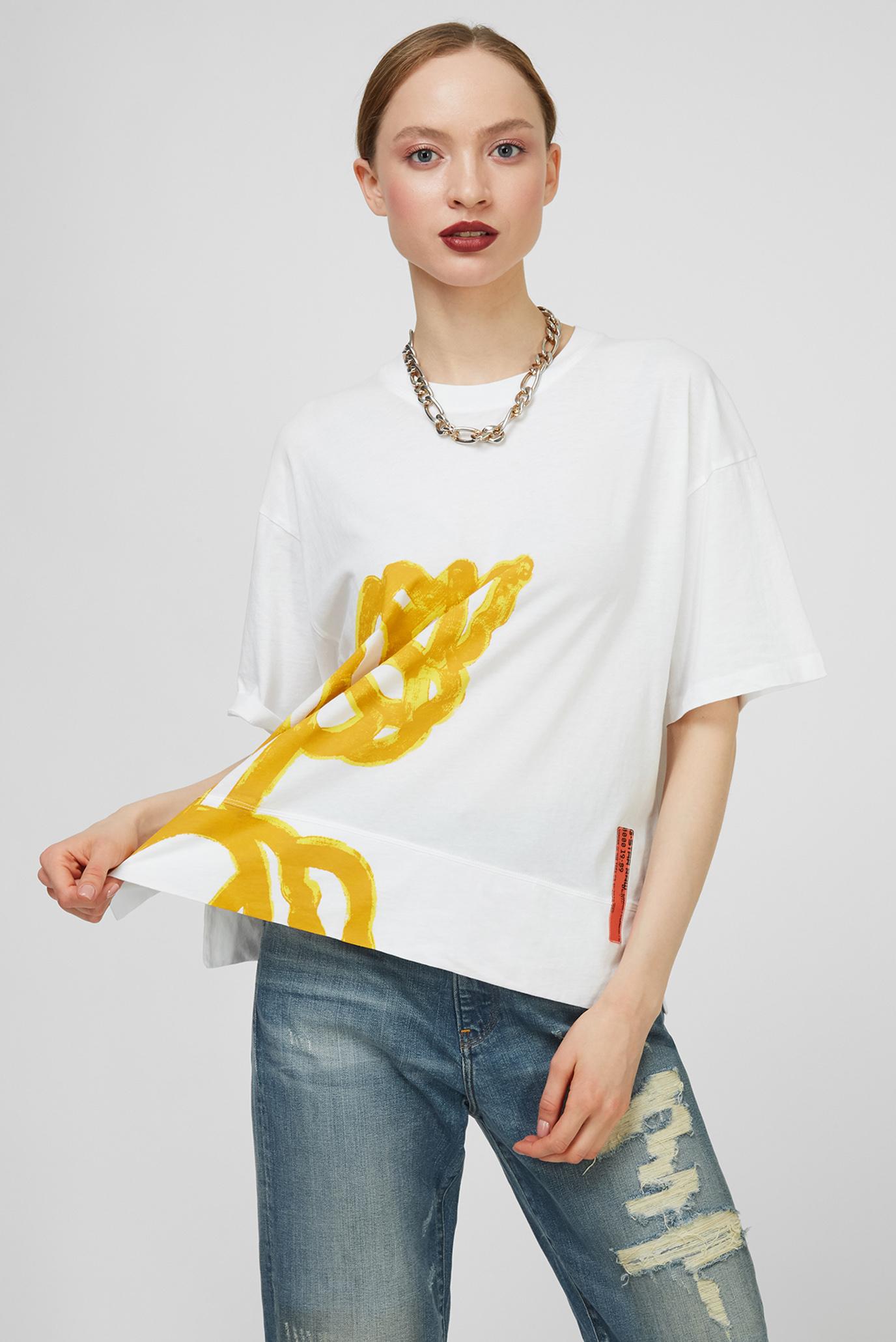 Женская белая футболка Loose Fit 1