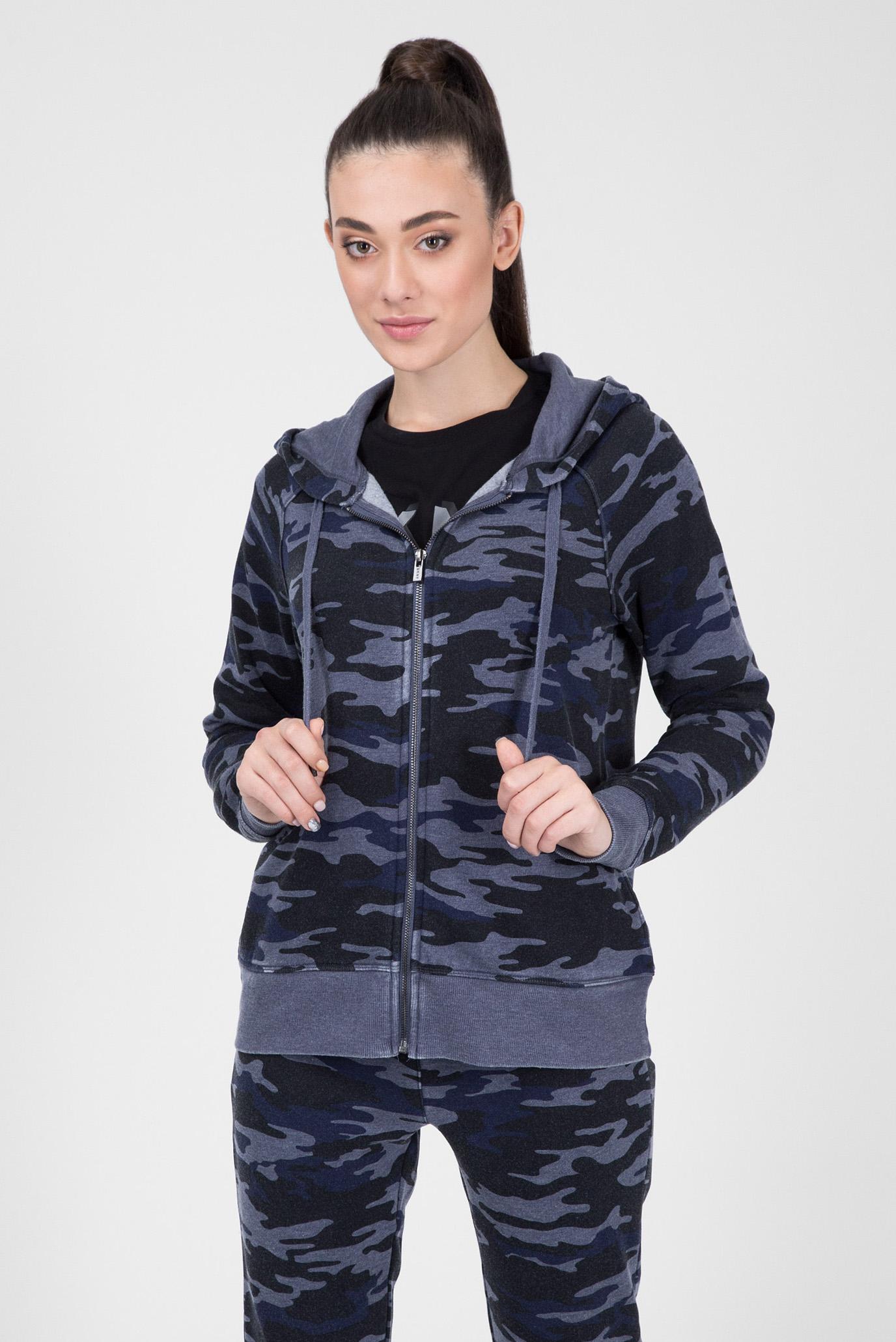 Купить Женское синее камуфляжное худи DKNY DKNY DP8J8217 – Киев, Украина.  Цены в интернет магазине MD Fashion 6d8d0e48f30