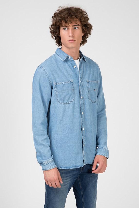 Мужская голубая джинсовая рубашка TJM DENIM POCKET