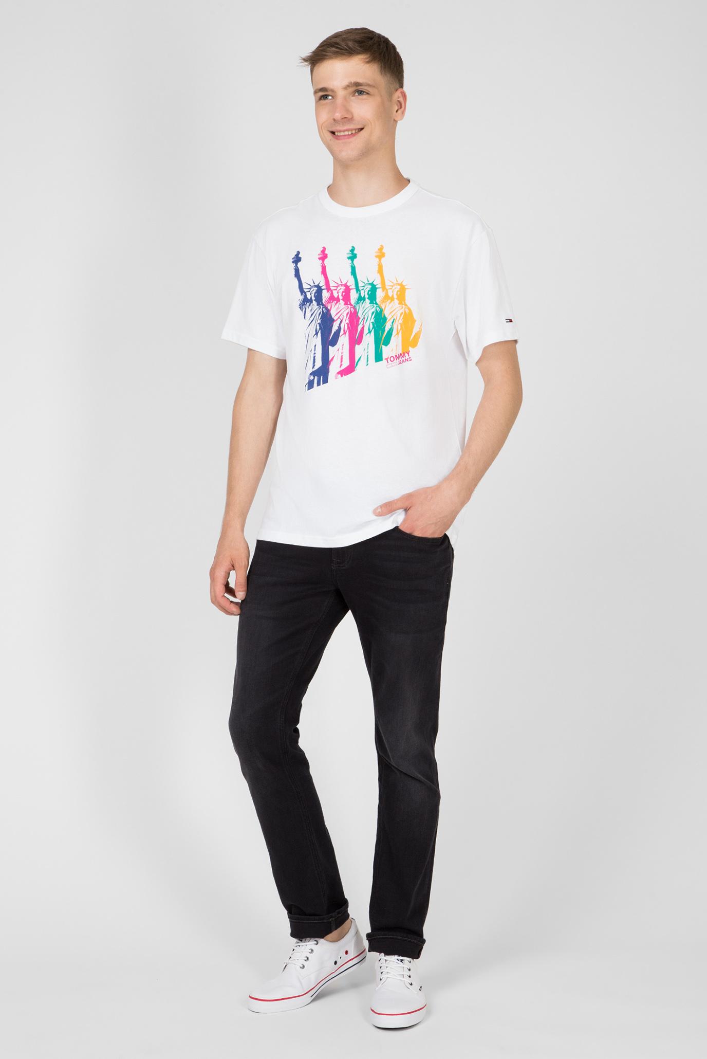 Чоловіча біла футболка з принтом TJM NEW YORK PHOTO 902 Tommy Jeans