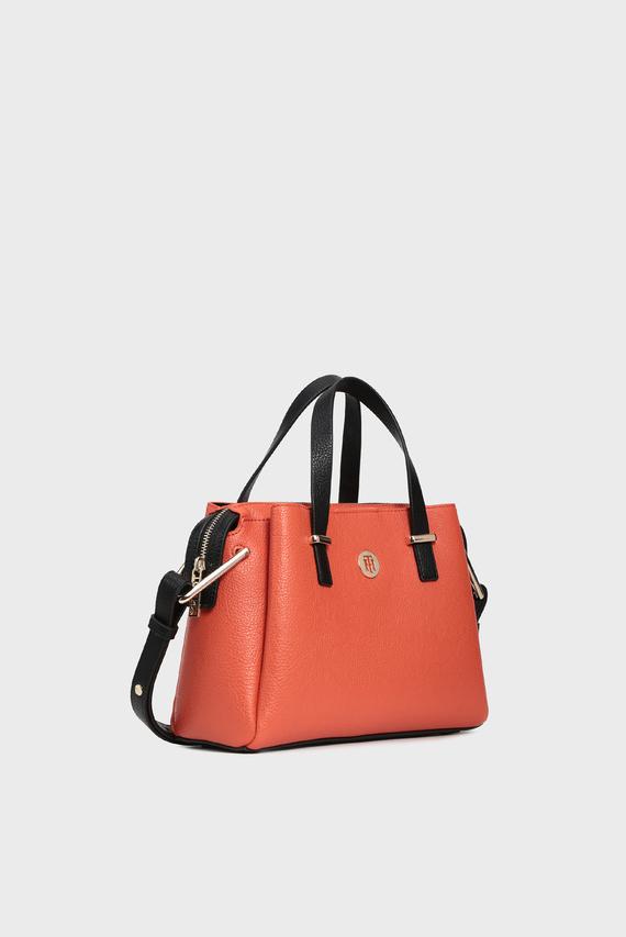 Женская оранжевая сумка на плечо TH CORE MED SATCHEL