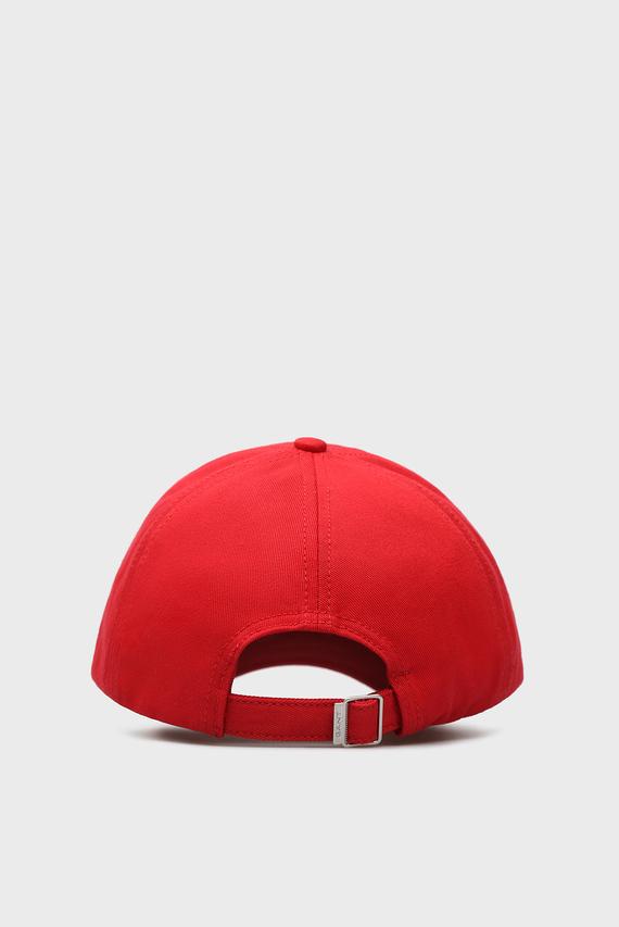Мужская красная кепка с вышивкой