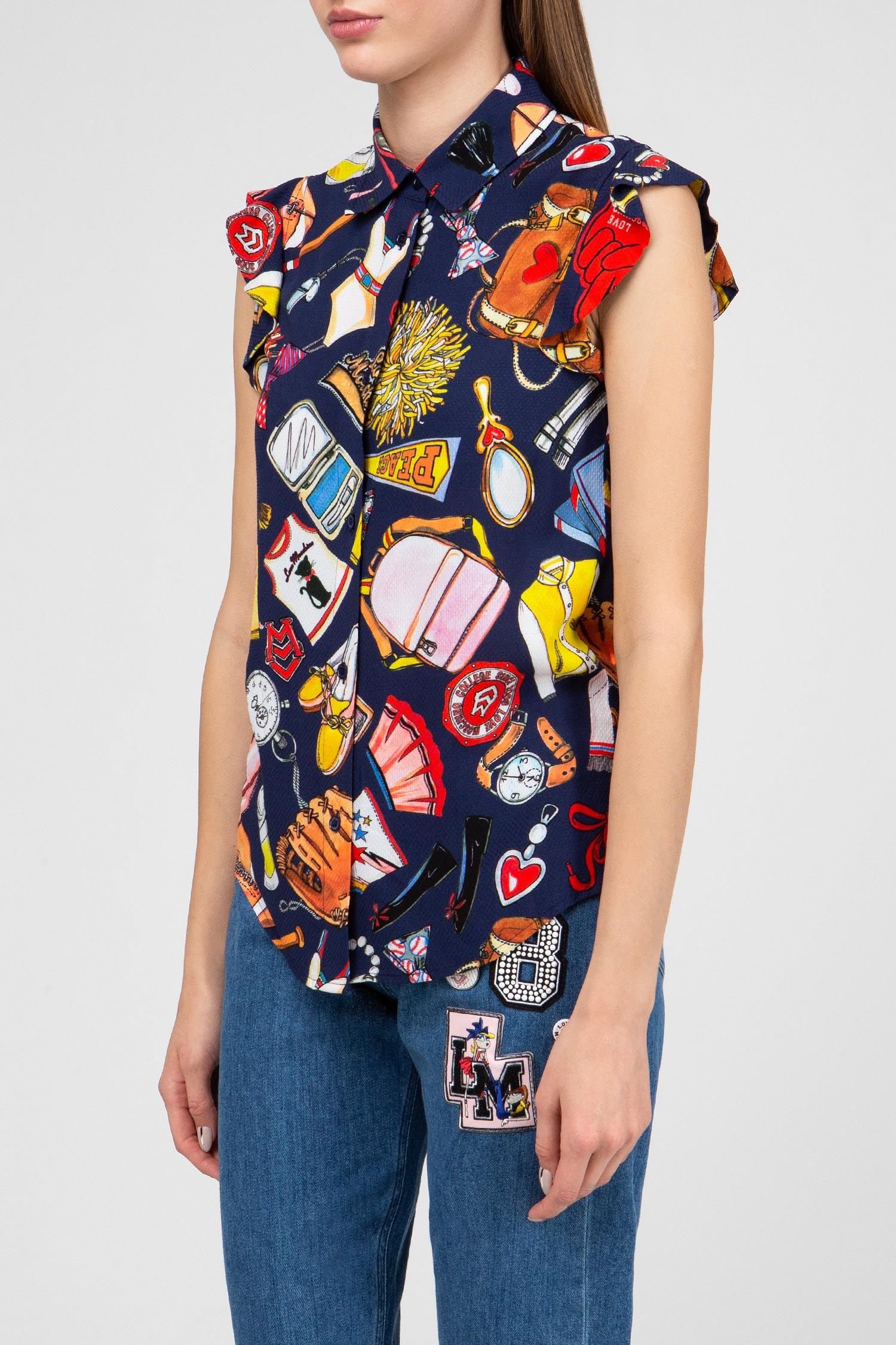 Женская принтованная блуза Love Moschino