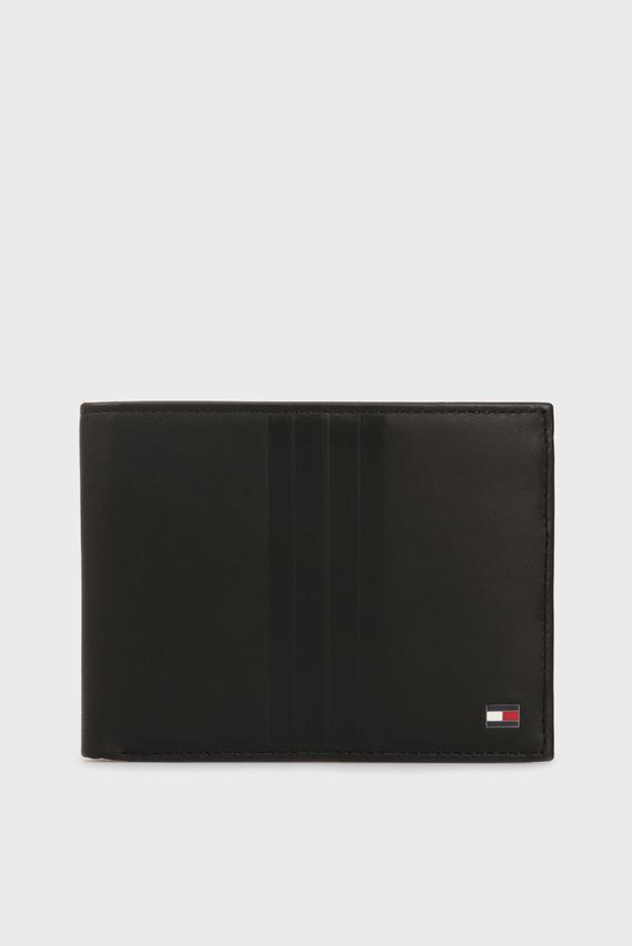 Мужской черный кожаный кошелек TH METRO