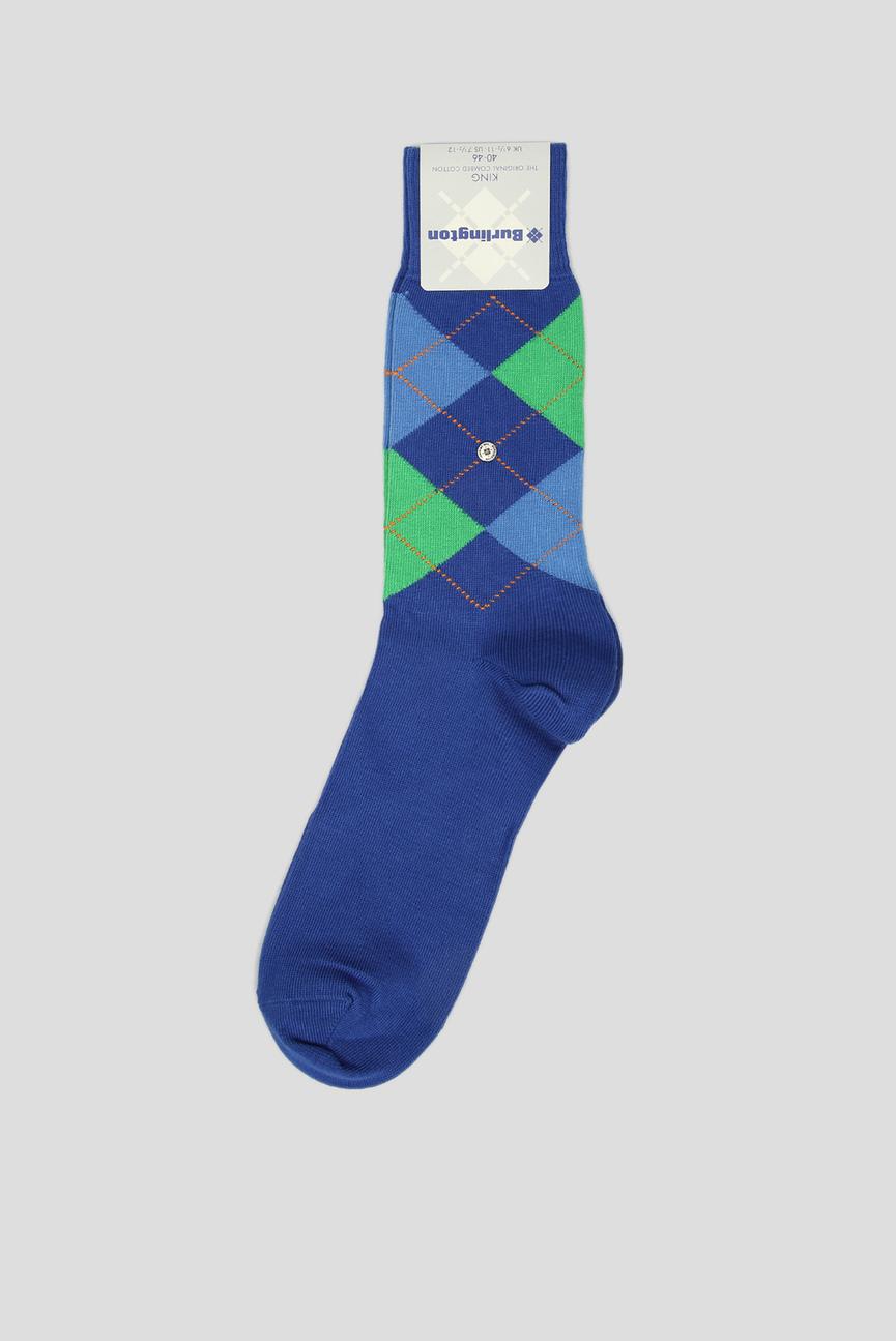 Мужские синие носки с узором