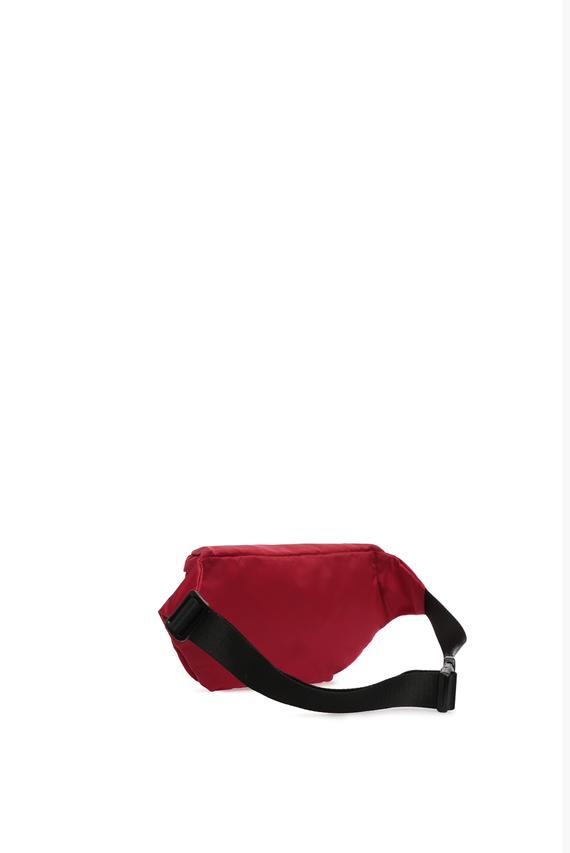 Мужская красная поясная сумка