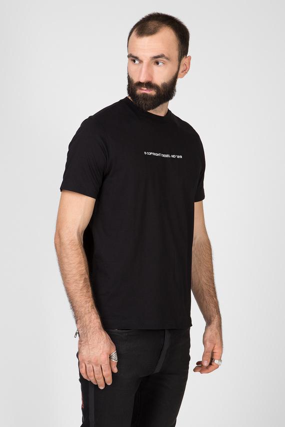 Мужская черная футболка T-JUST-COPY