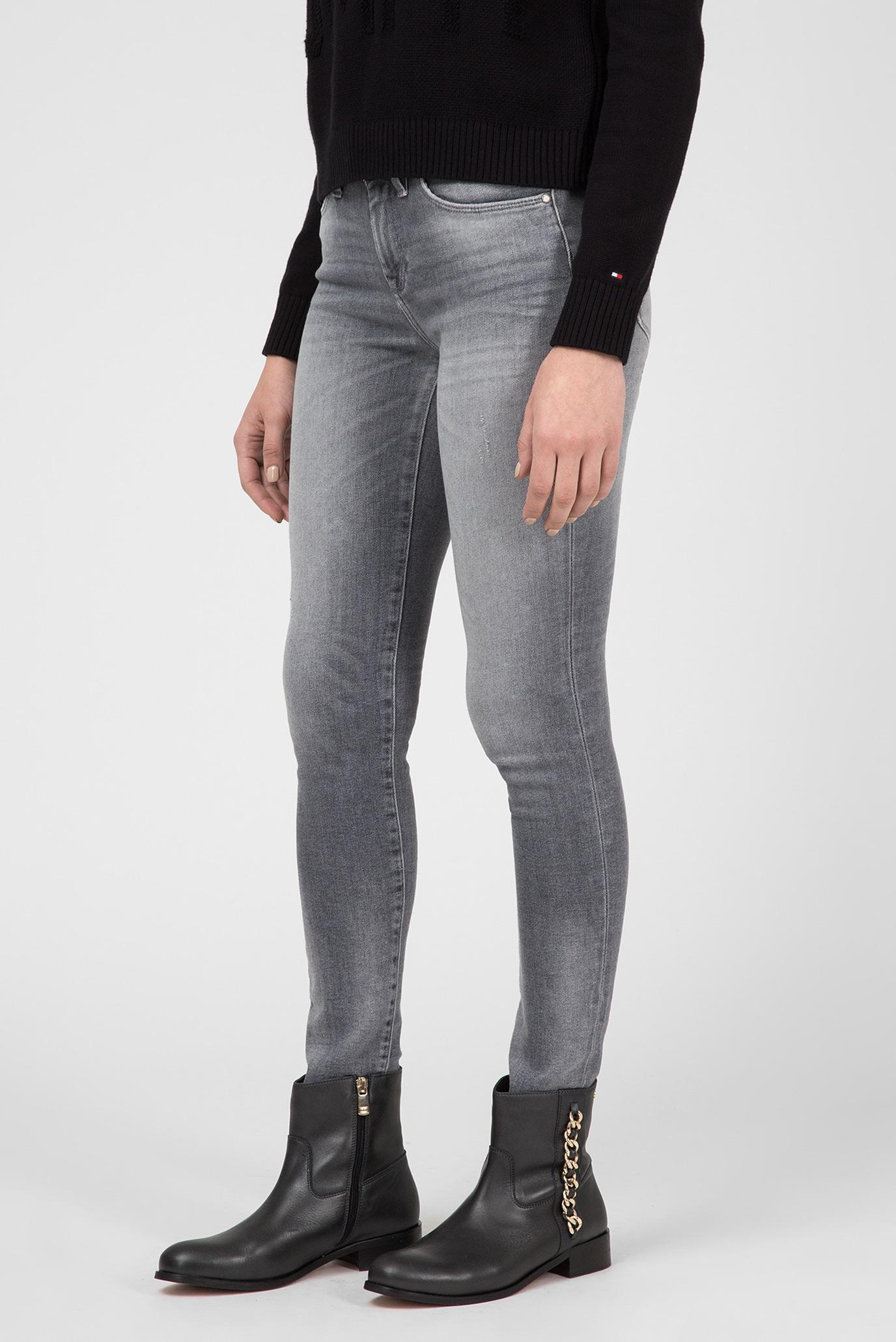 Купить Женские серые джинсы COMO Tommy Hilfiger Tommy Hilfiger WW0WW23528 – Киев, Украина. Цены в интернет магазине MD Fashion