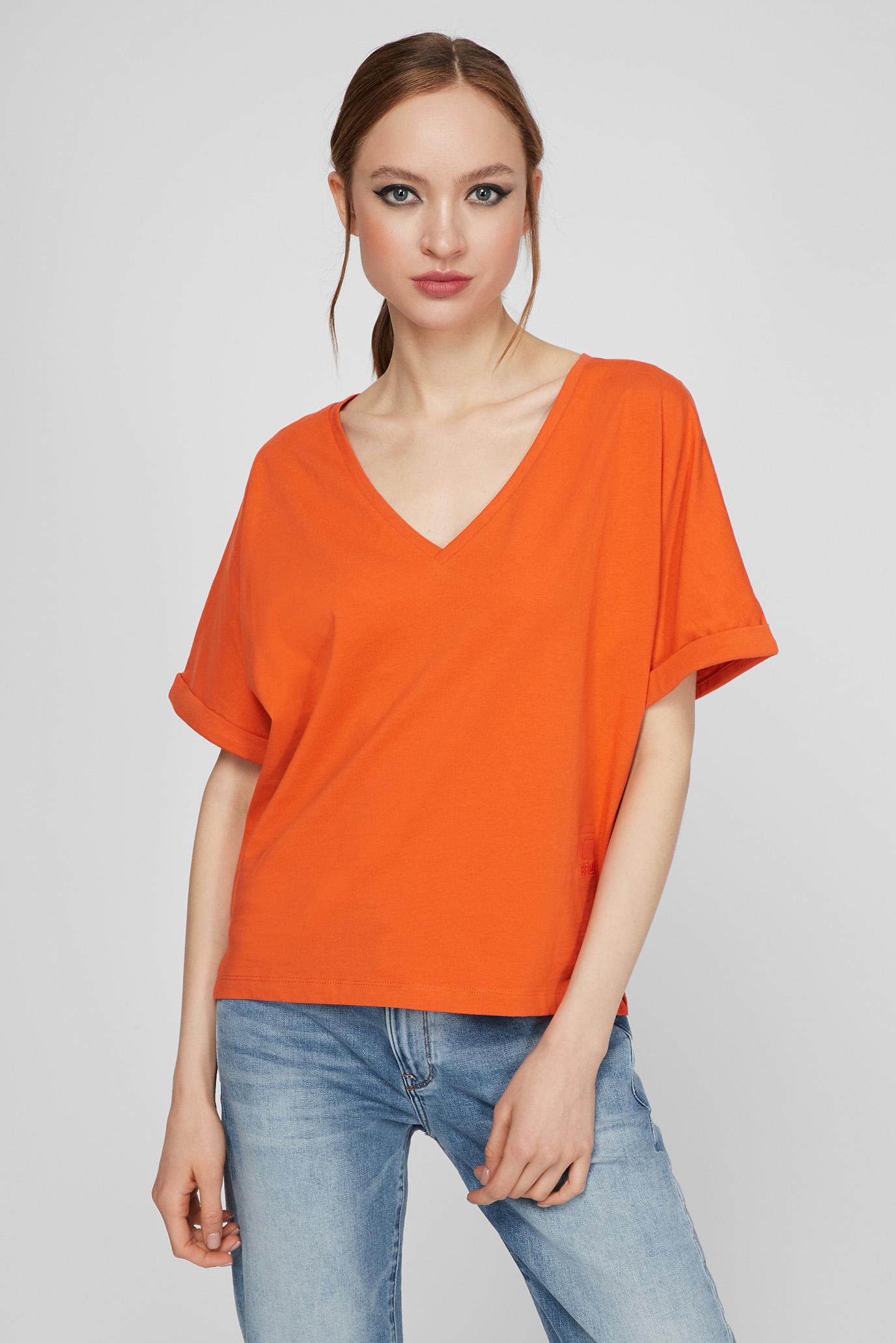 Женская оранжевая футболка Joosa 1