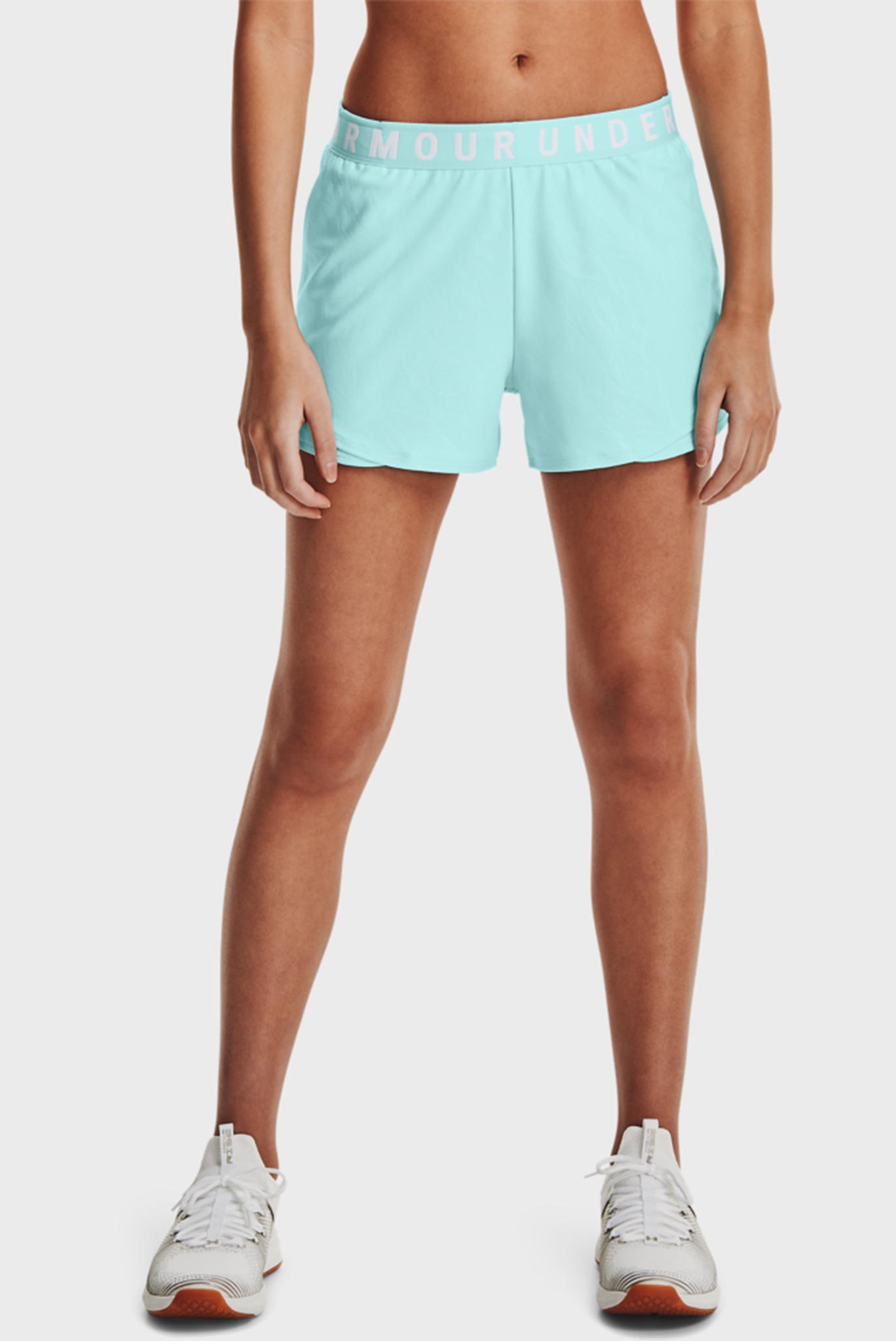 Женские мятные шорты Play Up Shorts Emboss 3.0 1