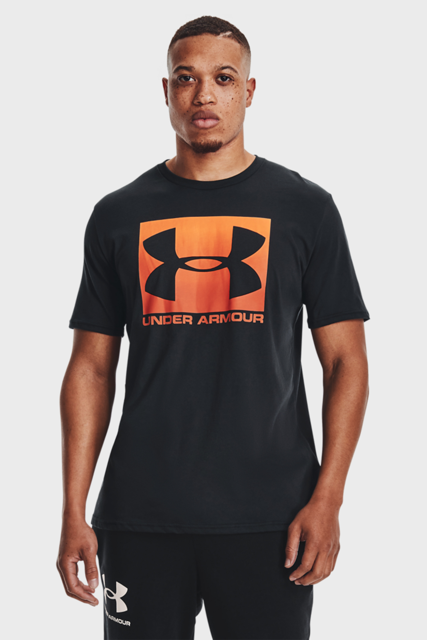 Чоловіча чорна футболка UA BOXED SPORTSTYLE SS 1