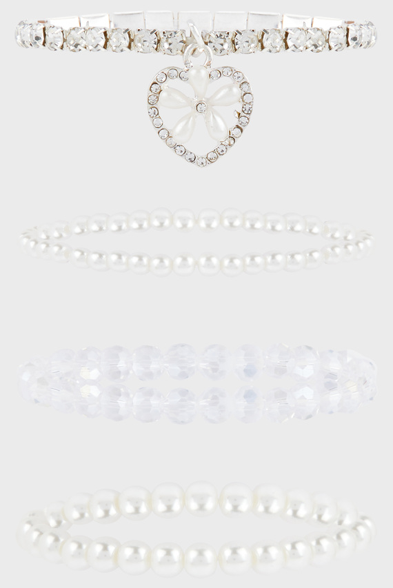 Детские браслеты Diamante Heart Multi (4 шт)