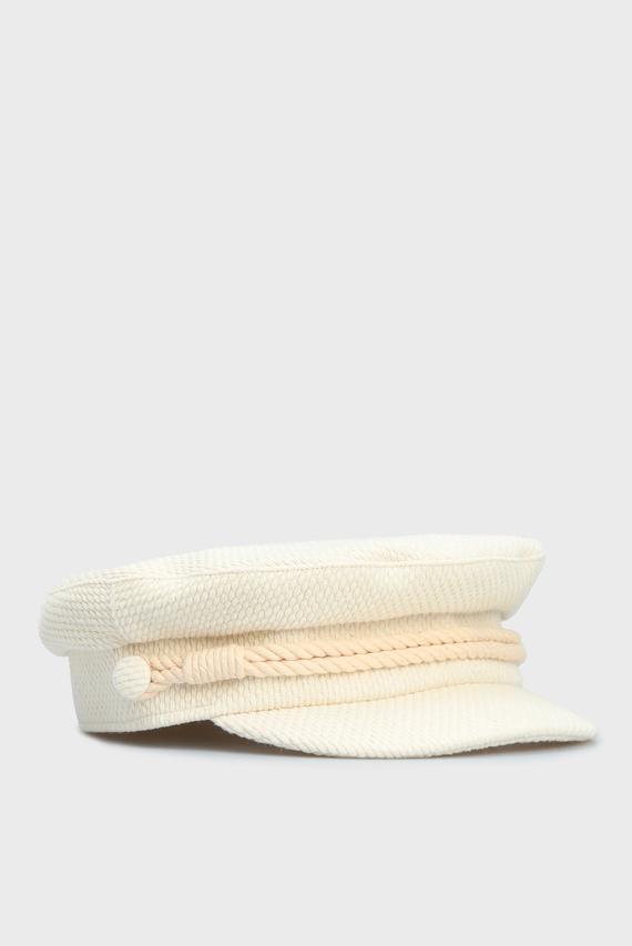 Женское белое кепи BAKER BOY TWEED