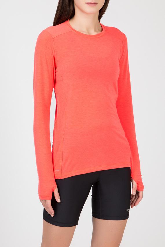 Женский оранжевый лонгслив