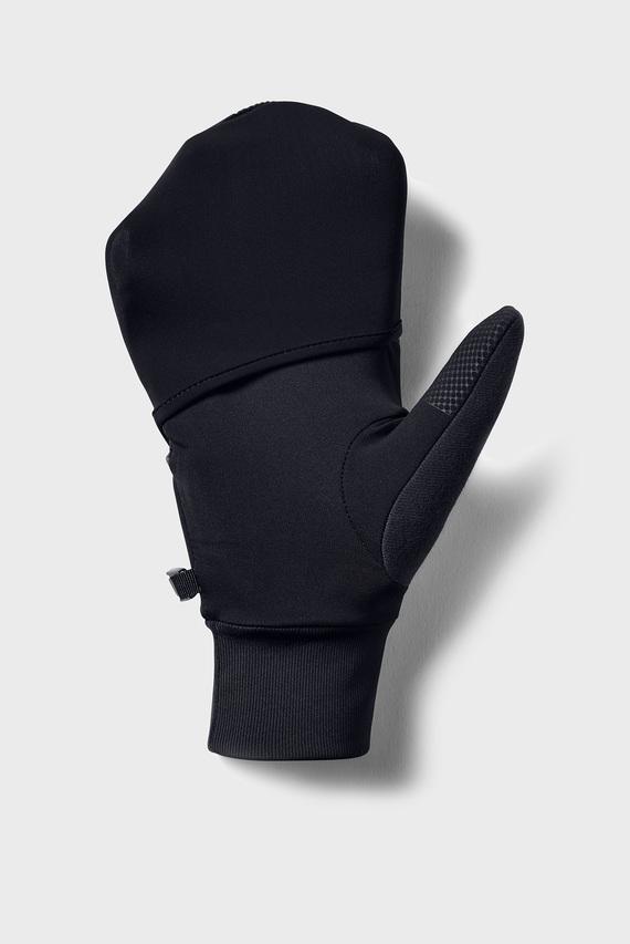 Мужские черные перчатки Men's Convertible Run Glove