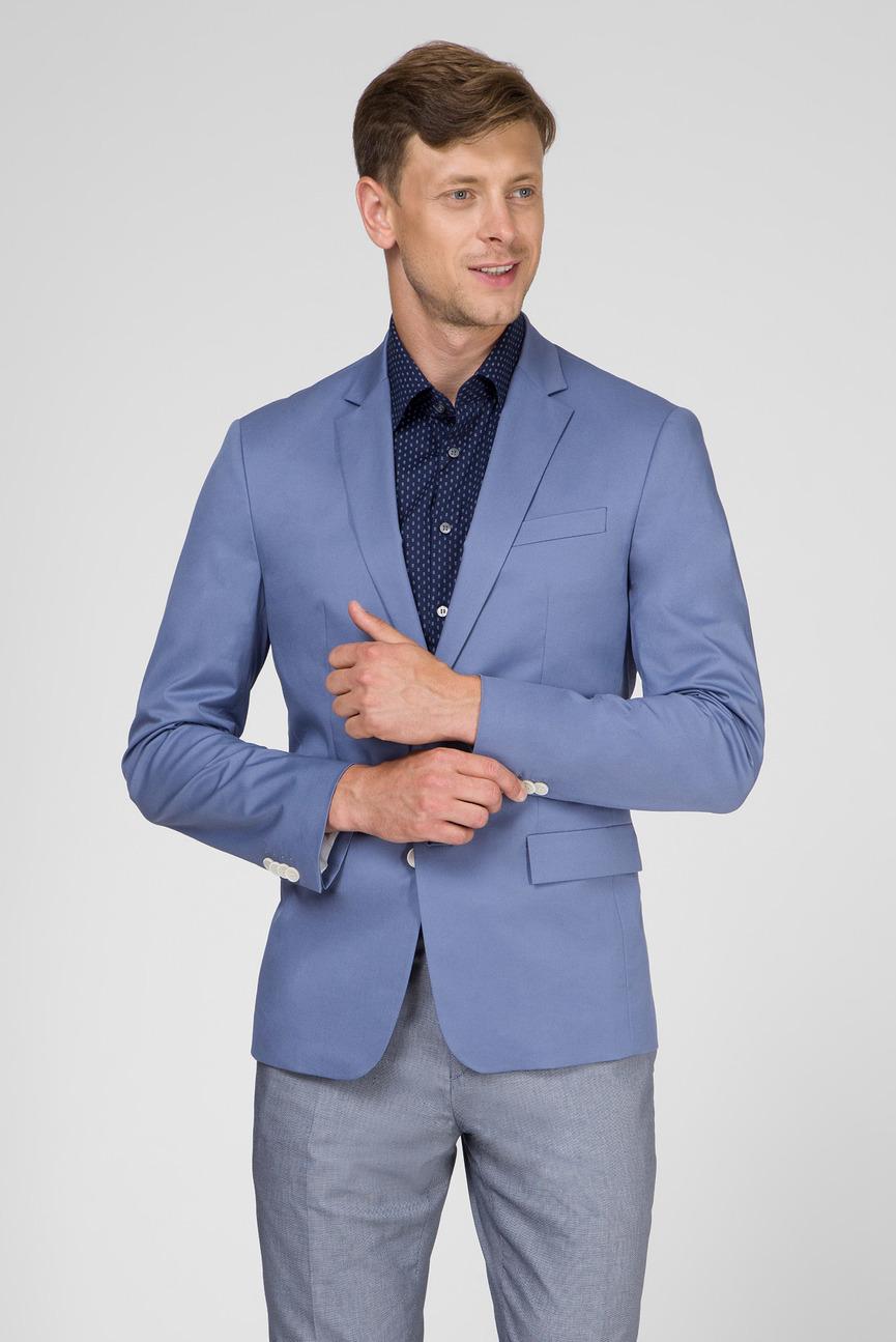 Мужской синий пиджак FINE SUMMER