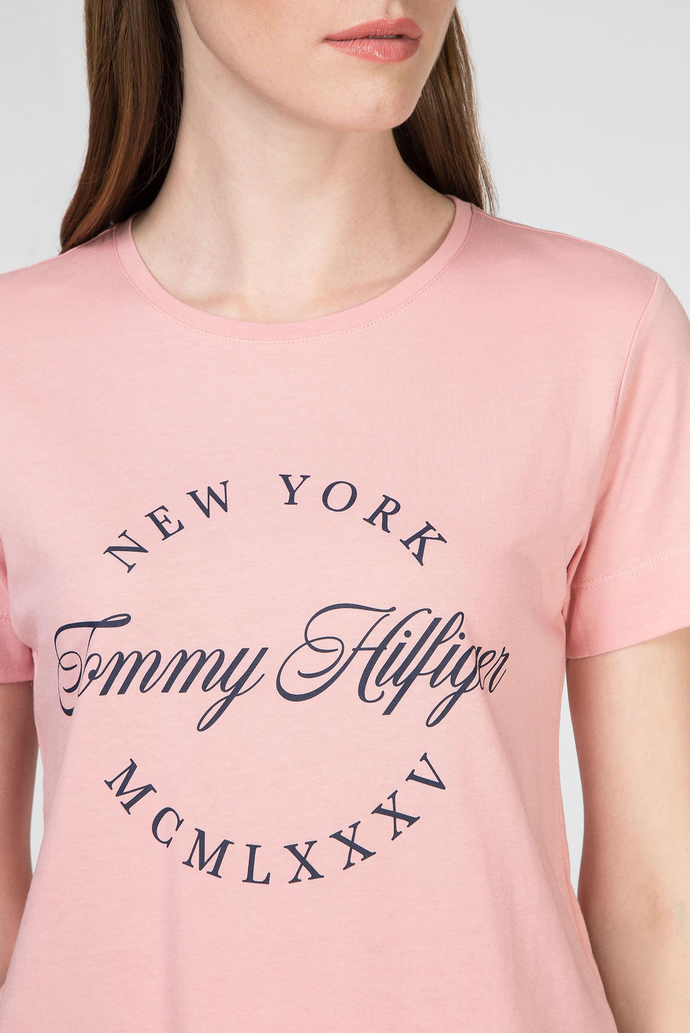 Женская розовая футболка LIVIA C-NK Tommy Hilfiger