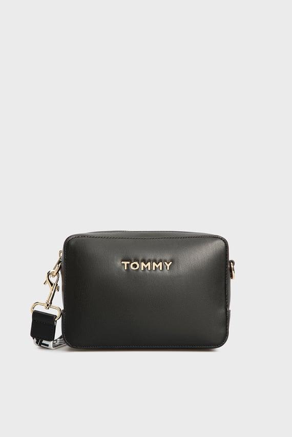 Женская черная сумка через плечо ICONIC