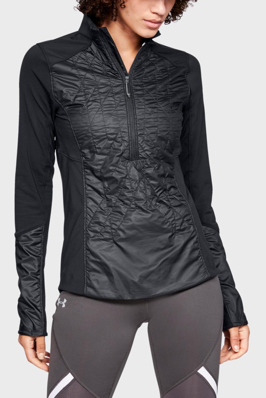 Женская черная куртка UA CG Reactor Terrain 1/2 Zip